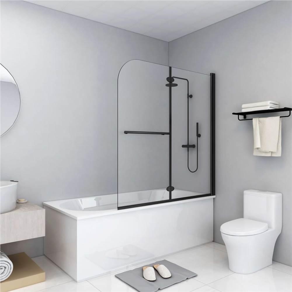 ตู้อาบน้ำพับได้ 2 บาน ESG 120x140 ซม. ดำ