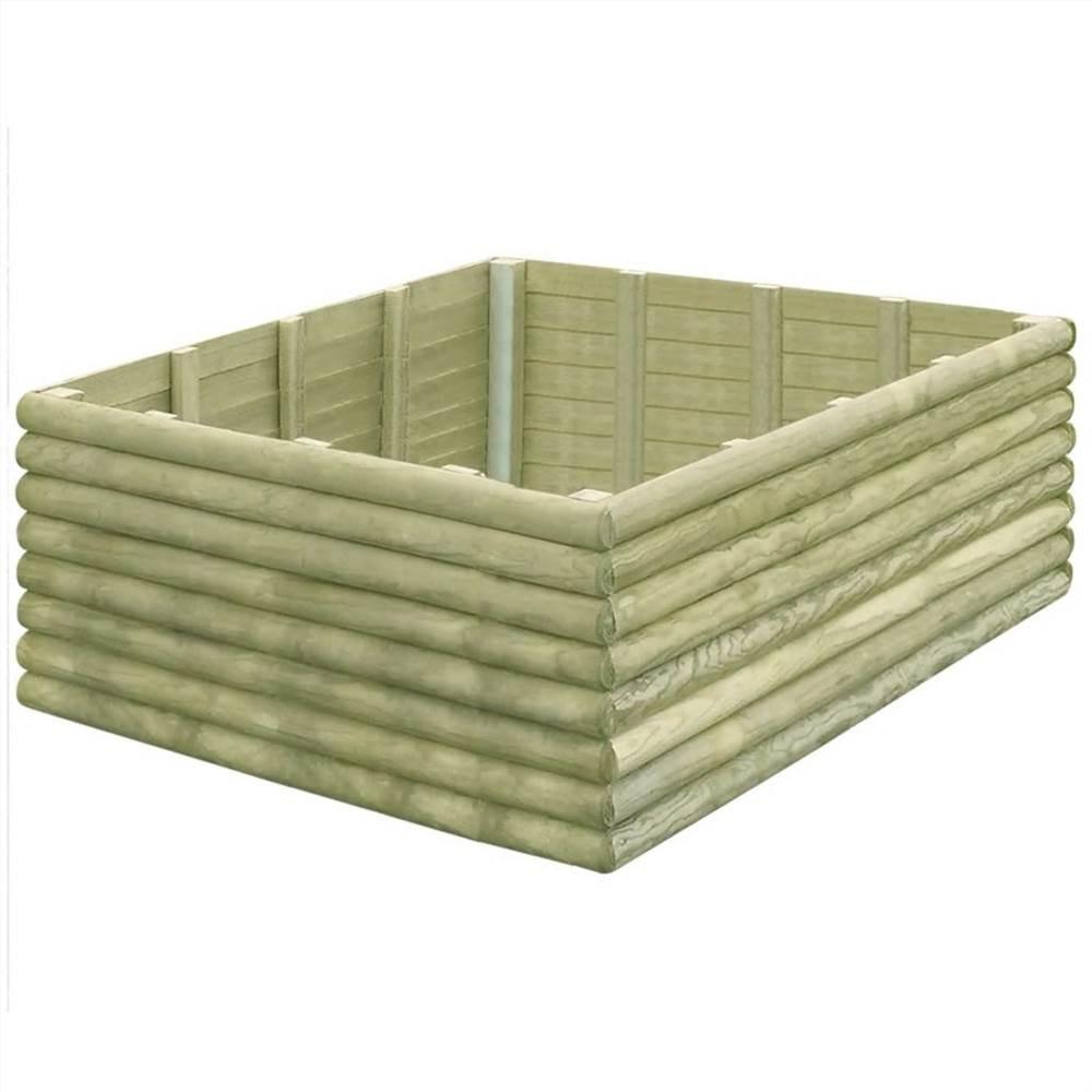 Garden Raised Bed 150x150x48 cm Impregnated Pinewood 19 mm