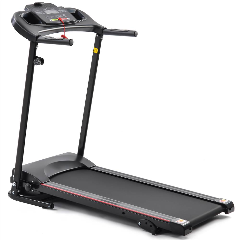 KRD-JK 1609A Folding Electric Treadmill Running Machine For Home Black With 3 Manual Inclines