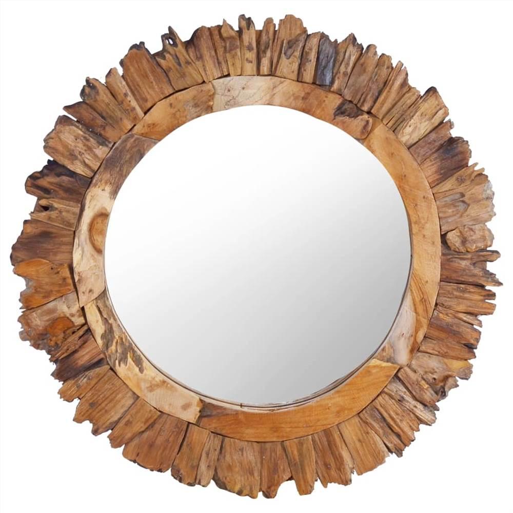 Espelho de parede 60 cm redondo de teca