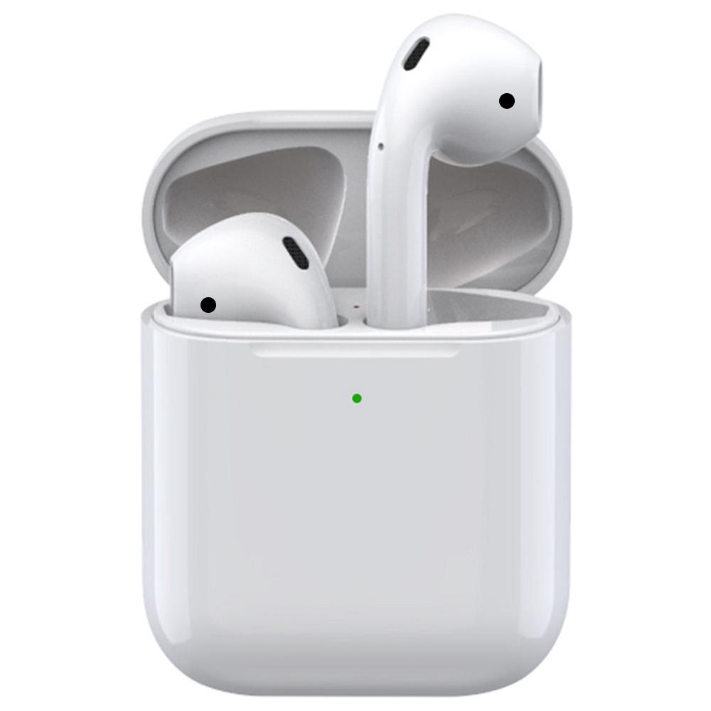 Apods i80 Bluetooth 5.0 TWS Écouteurs Chargement sans fil Siri Assistant vocal Appel binaural Étui de chargement 300mAh