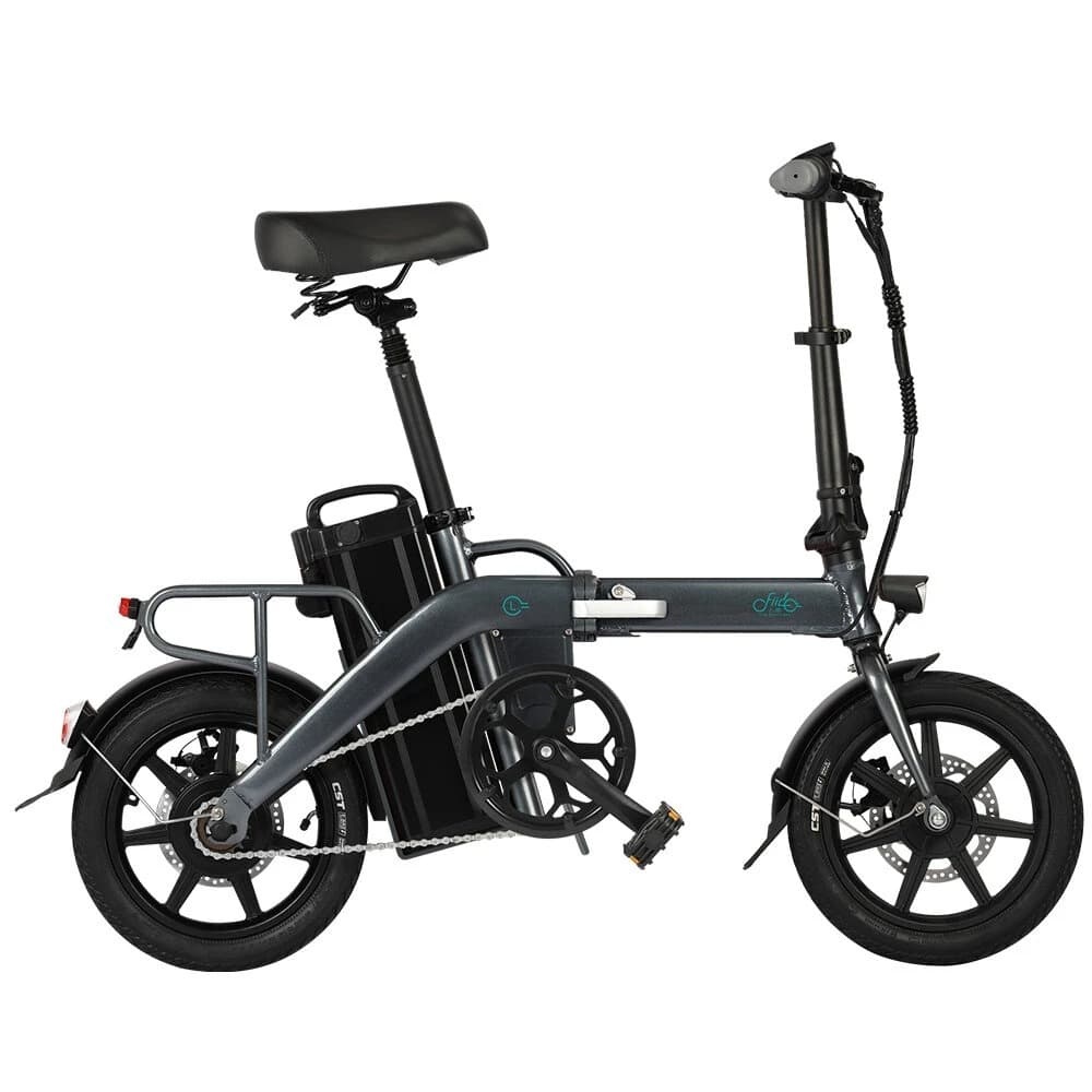 FIIDO L3 Folding Electric Moped Bike City Bike Commuter Bike 48V 350W 23.2Ah Lithium Battery 14 inch  Max 25km/h 130Km Max Mileage Long Distance - Grey