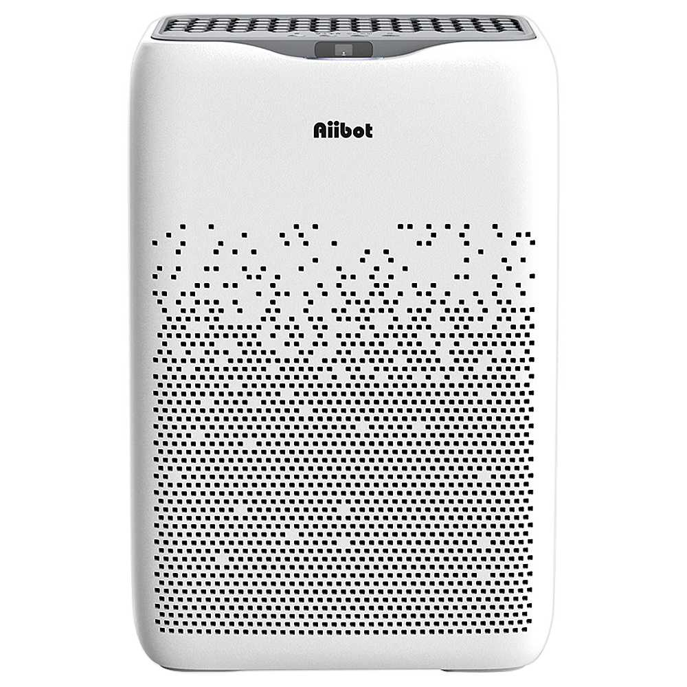 Aiibot EPI188 Dual Filter Air Purifier 4-stage Filter 99.97% Filtration Efficiency for Inhalable Particles, Pollen, Dust, Bacteria, Mold, Formaldehyde - White
