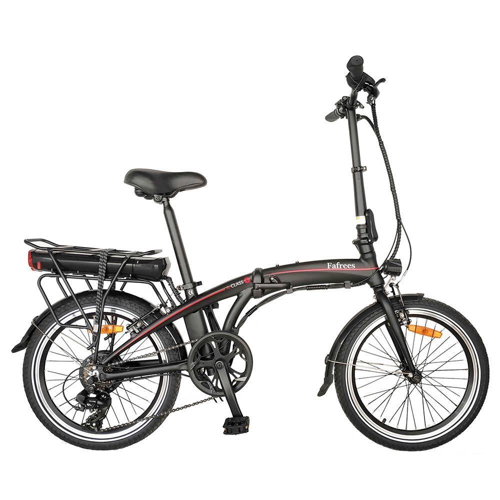 Fafrees 20F039 20 pouces vélo électrique pliant 250W moteur 7 vitesses engrenages amovible 10AH batterie en alliage d'aluminium cadre LED phare noir