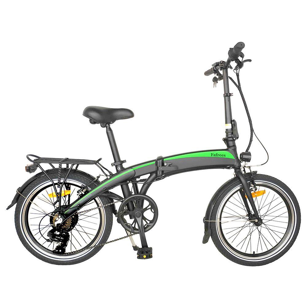 Fafrees 20F055 20 ιντσών πτυσσόμενο ηλεκτρικό ποδήλατο 250W DC μοτέρ 7 ταχυτήτων αφαιρούμενο 7.5Ah μπαταρία αλουμίνιο πλαίσιο κράμα Μέγιστη ταχύτητα 25km / h LED προβολέας μαύρο