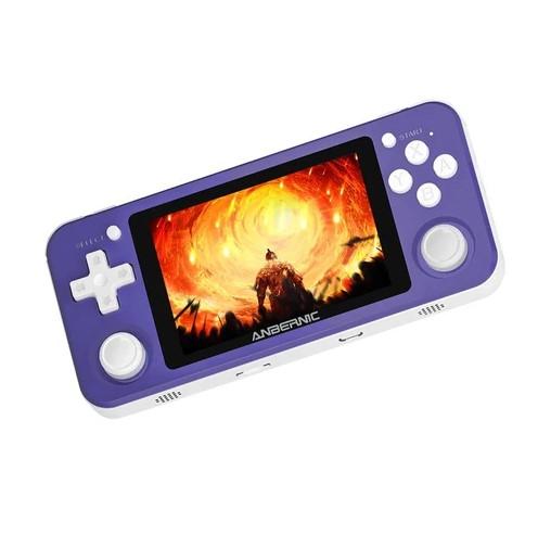 ANBERNIC RG351P 64GB Ретро игровая консоль RK3326 с открытым исходным кодом 3.5-дюймовый IPS-экран - фиолетовый