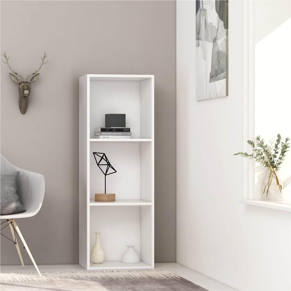 3-stufiger Bücherschrank Weiß 40x30x114 cm Spanplatte