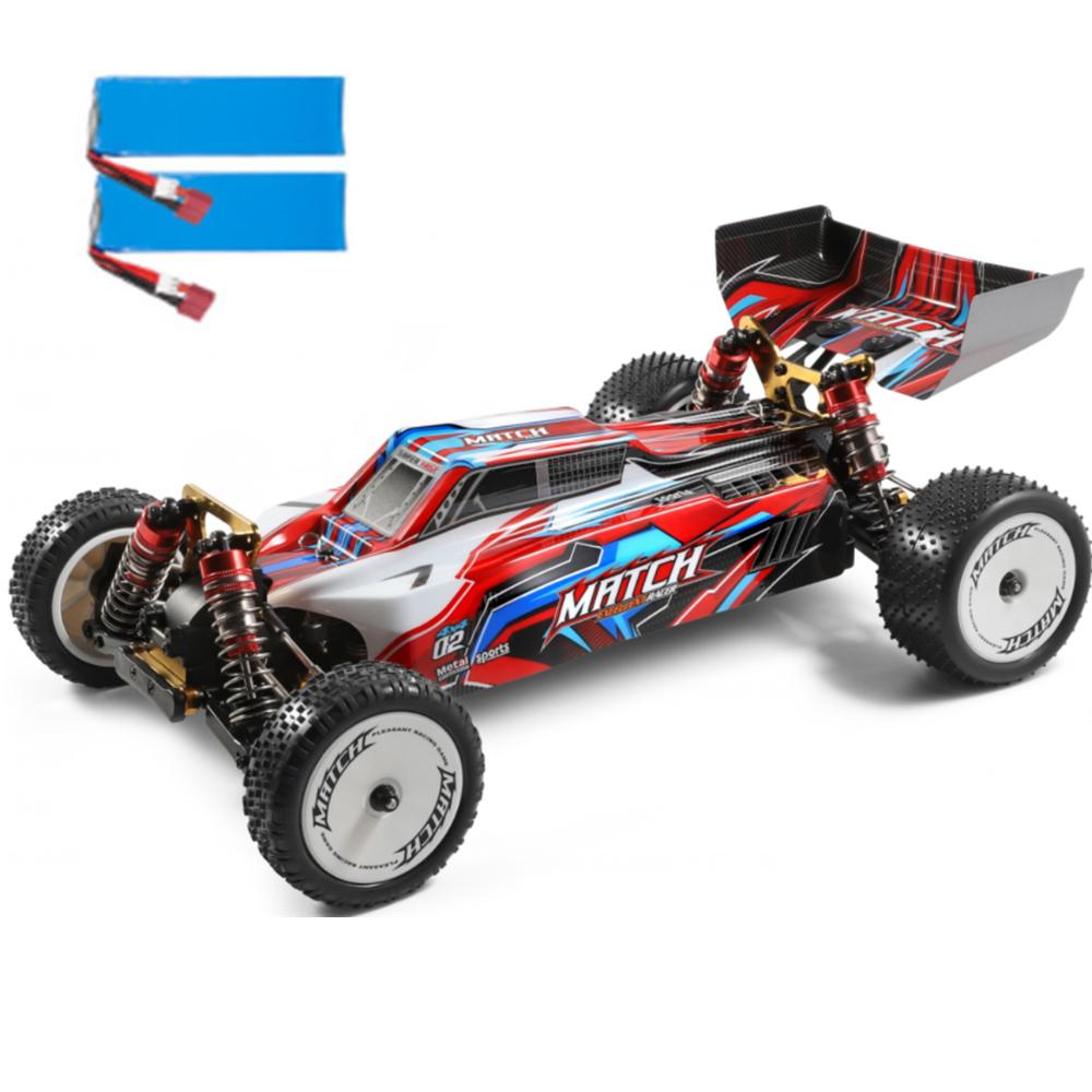 Wltoys 104001 1/10 2.4G 4WD 45km / h Metallchassis Fahrzeuge Modell RC Car RTR - Zwei Batterien