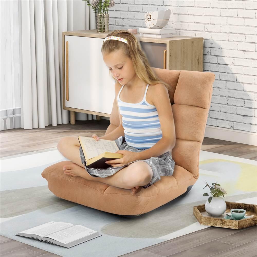"""Canapé-lit paresseux Orisfur 21 """"en tissu pour salon, chambre, bureau, appartement - jaune"""