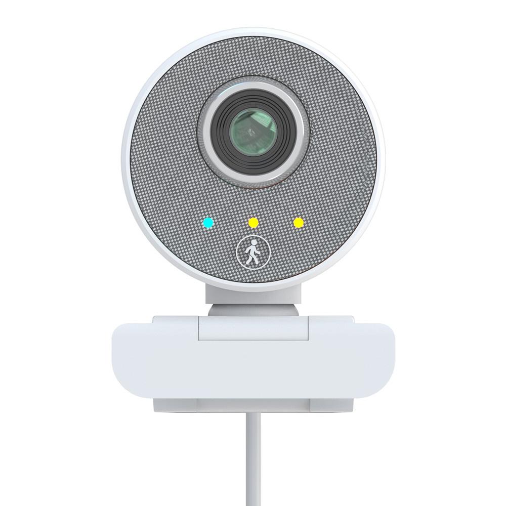 Caméra PC W66 1080P AI Caméra Web de suivi automatique humanoïde Super WDR Caméra Web USB à double microphone - Blanc