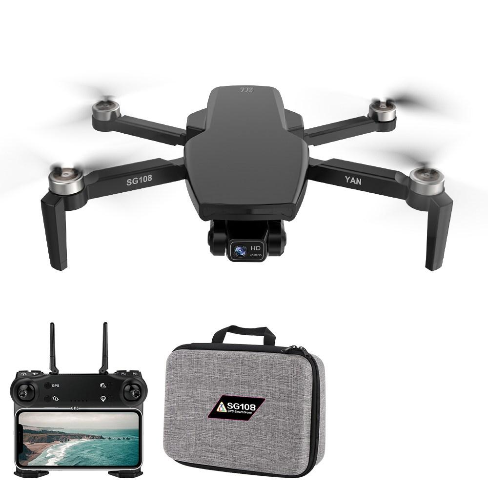 ZLL SG108 PRO 5G WIFI FPV GPS 4K Camera 2 assi Gimbal RC Drone Nero - Una batteria con borsa