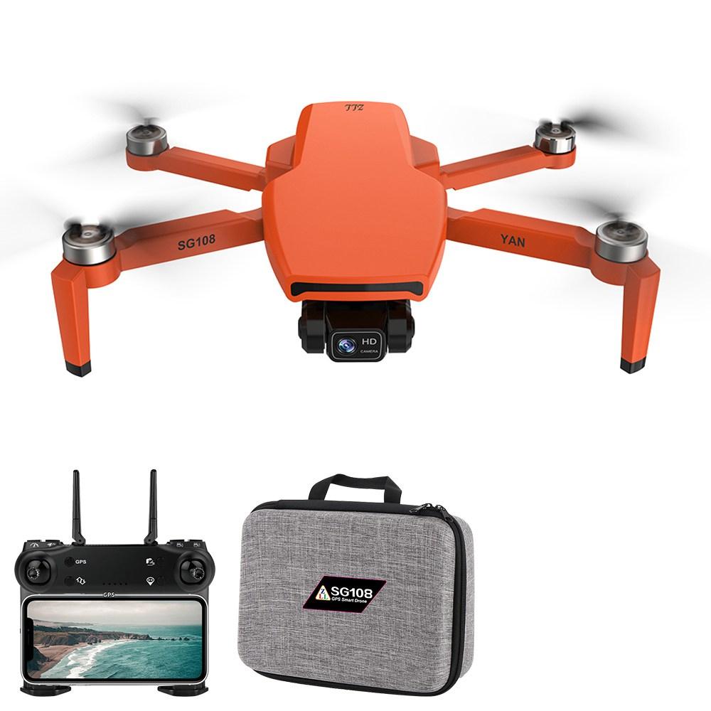 كاميرا ZLL SG108 PRO 5G WIFI FPV GPS 4K 2-Axis Gimbal RC Drone Orange - بطارية واحدة مع حقيبة