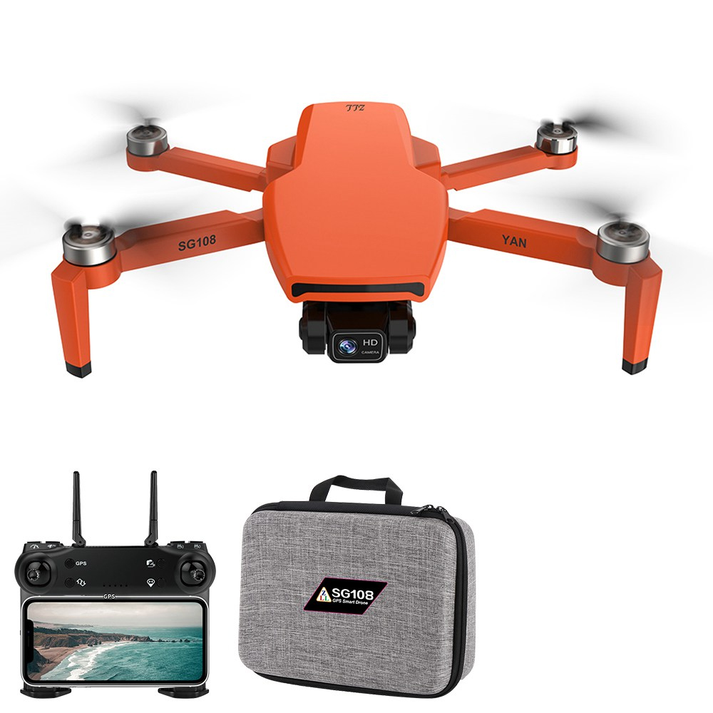 ZLL SG108 PRO 5G WIFI FPV GPS 4K κάμερα 2-Axis Gimbal RC Drone Orange - Δύο μπαταρίες με τσάντα