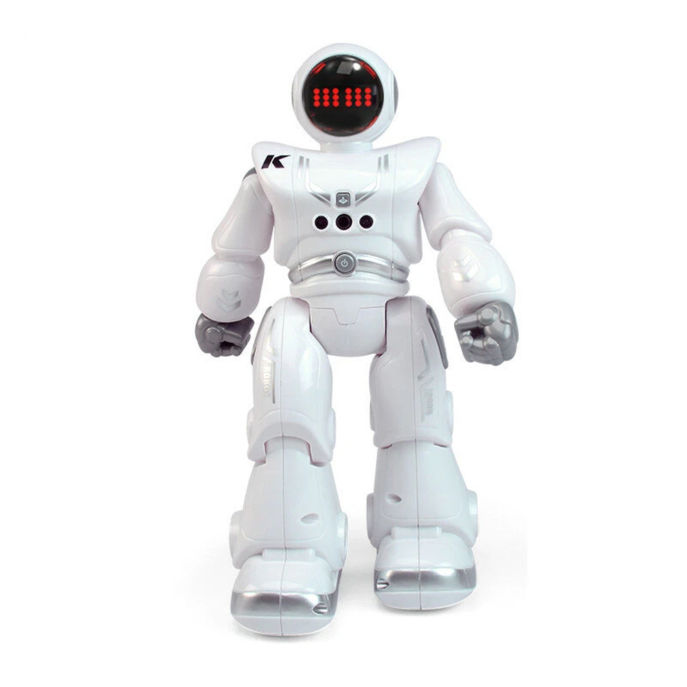 JJRC R18 RC Robot 2.4G Gesture Sensing Programmeerbare afstandsbediening Muziek Dans Robot Toy - Wit