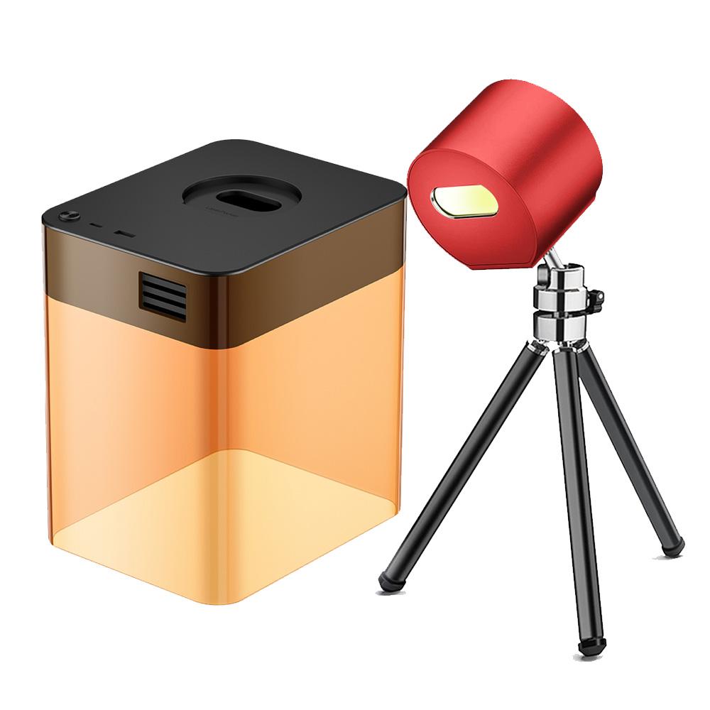 LaserPecker L1 Mini costume de graveur laser Bluetooth avec coque de protection App Control Overheat Shutdown Lunettes de protection - Rouge