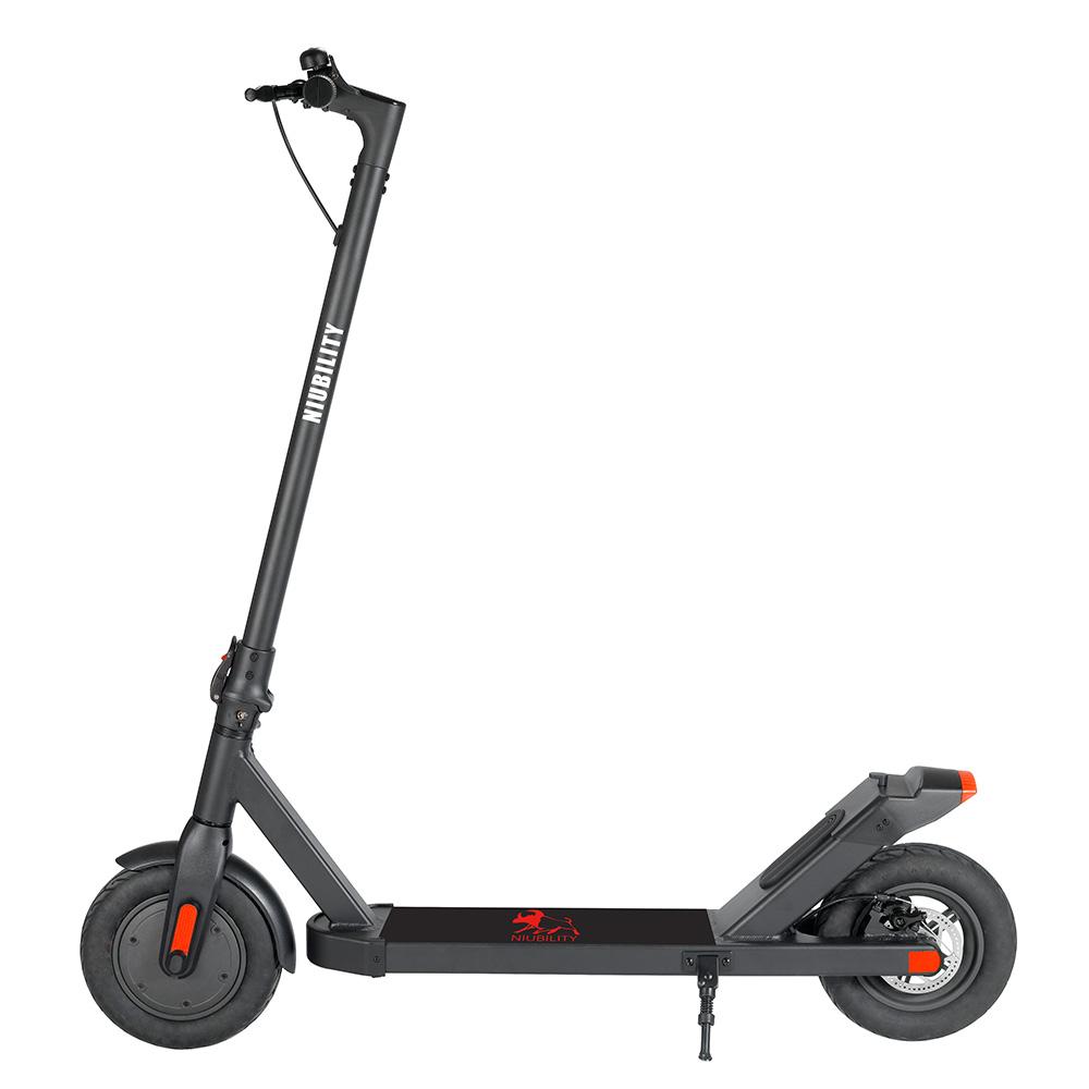 NIUBILITY N2 elektromos robogó 10Ah akkumulátor 350W motor 27-32KM utazási futásteljesítmény 10 hüvelykes kerék 25Km / h lemezfék alumíniumötvözet karosszéria - fekete