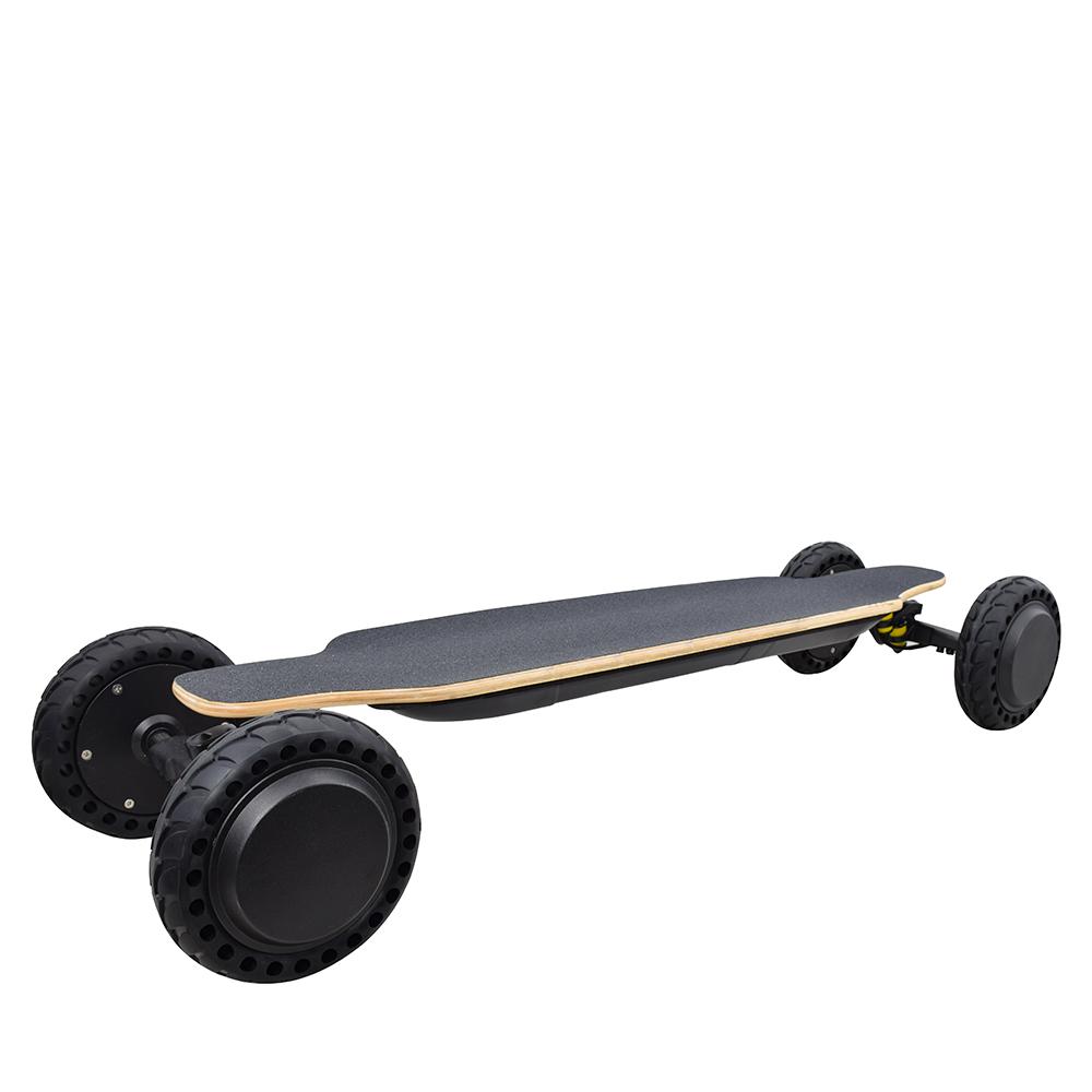 Skateboard elettrico fuoristrada SYL-14 7.8Ah 36V Velocità massima della batteria 30 km / h Telecomando - Nero
