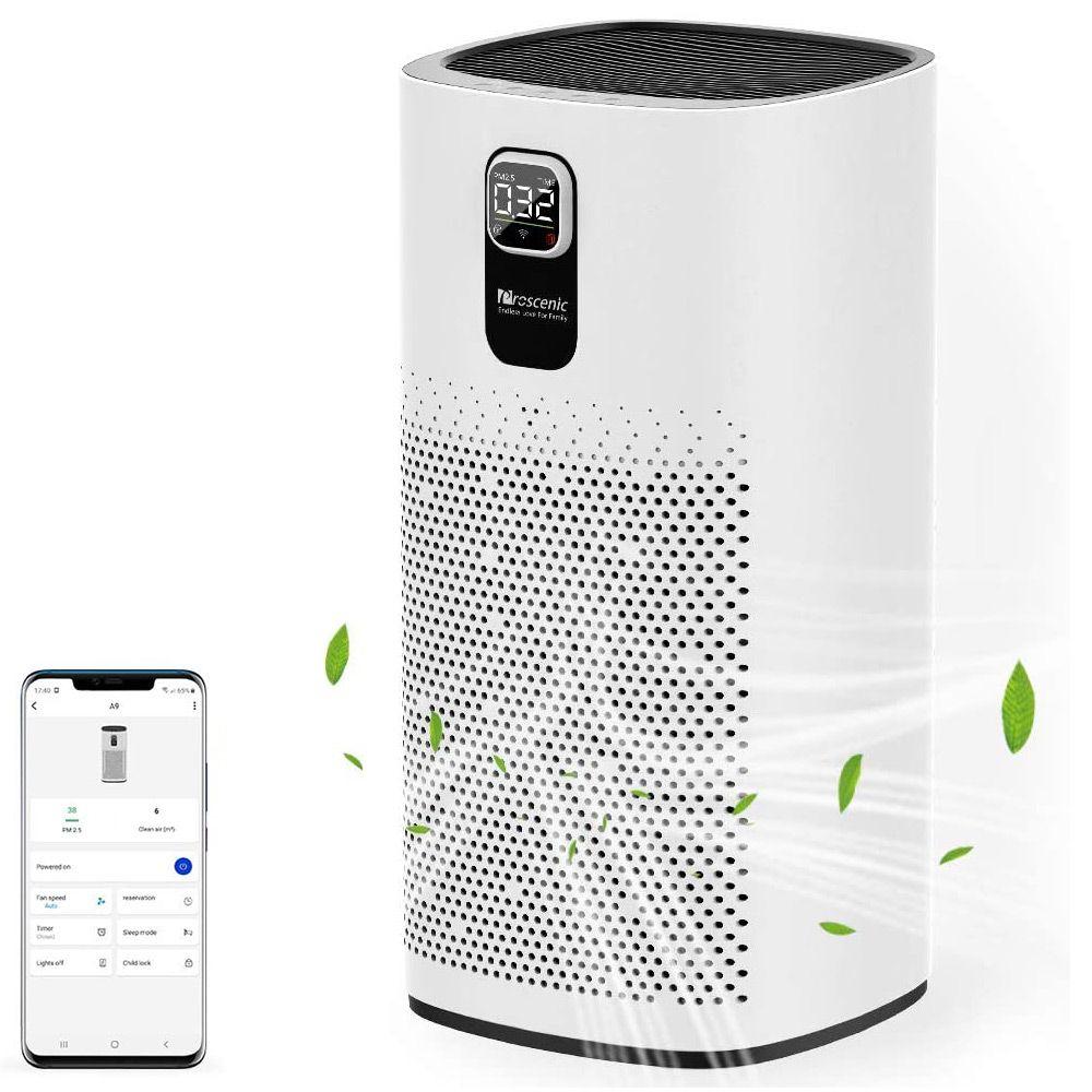 Proscenic A9 Smart Luftreiniger LED Digitalanzeige Weiß