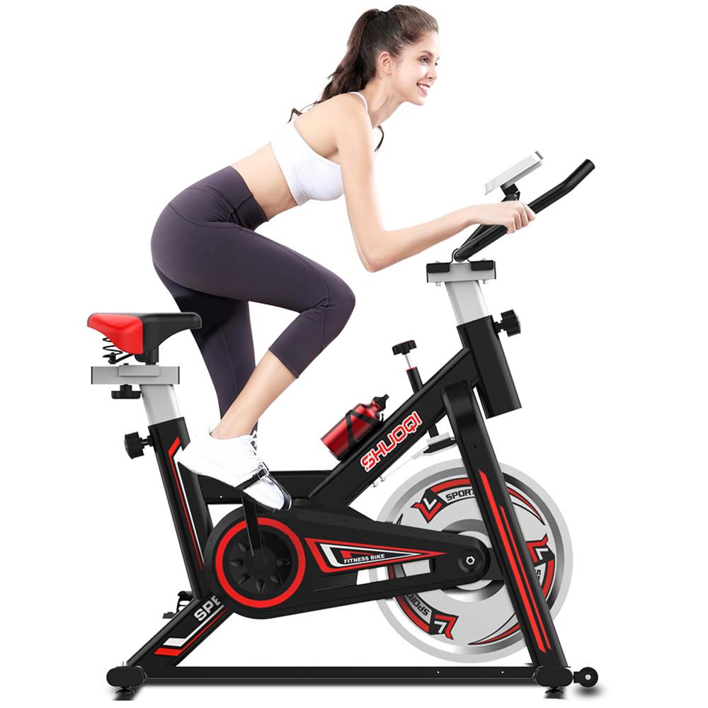 SHUOQI EB001-B Pennello Spinning Bike Ciclismo Esercizio Fitness Bike Altezza regolabile per allenamento indoor - Nero