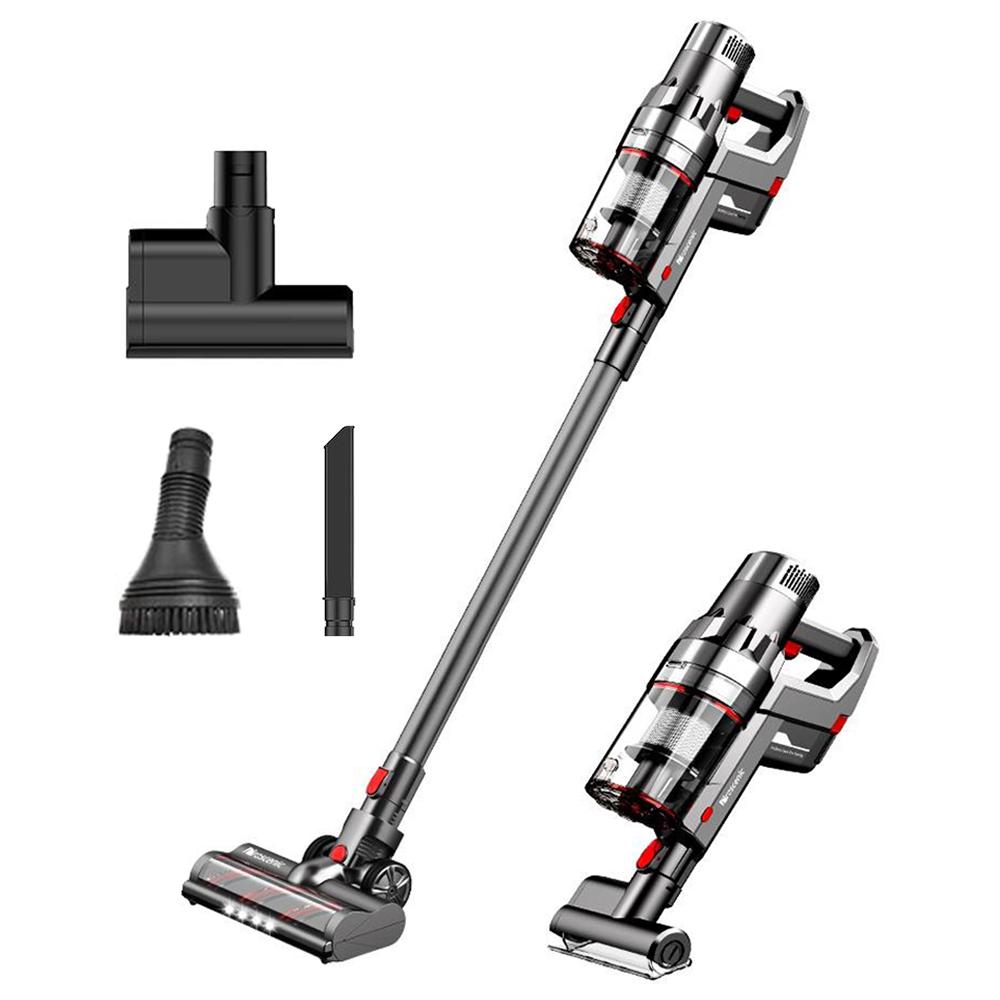 ProscenicP11ハンドヘルドコードレス掃除機25000pa450W 2 in 1掃除機、タッチスクリーン、取り外し可能および充電式2500mAhバッテリー、硬い床用の軽量掃除機、カーペット、ペット用ヘアグレー