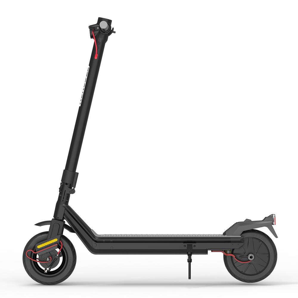 Kukudel 105P Складной электрический скутер 10-дюймовая шина 500 Вт Мотор 36 В 12.5 Ач Батарея Максимальная скорость 25 км / ч ЖК-дисплей 32-39 км Корпус из алюминиевого сплава - черный