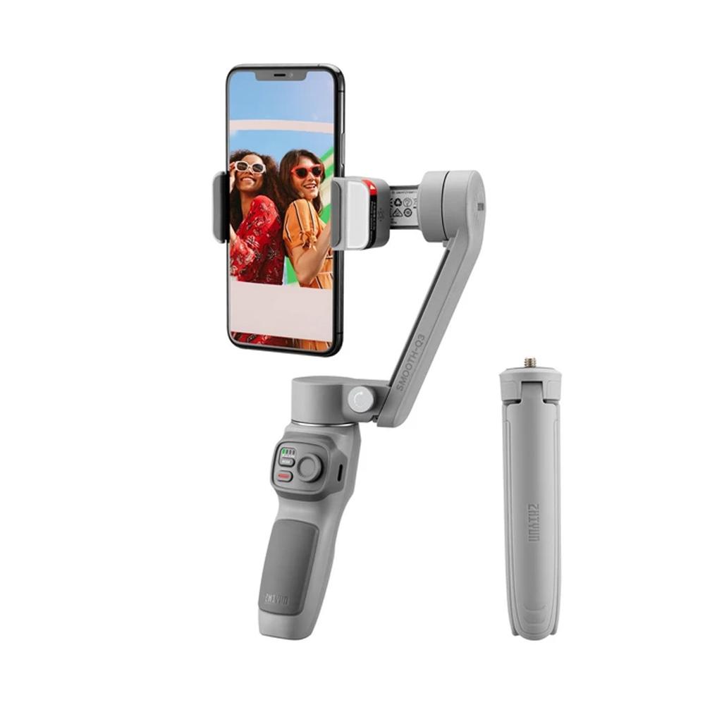 Zhiyun Smooth Q3 3-Axis Smartphone Gimbal Mobil Stabilisator med inbyggt LED-påfyllningslampa - Standardversion
