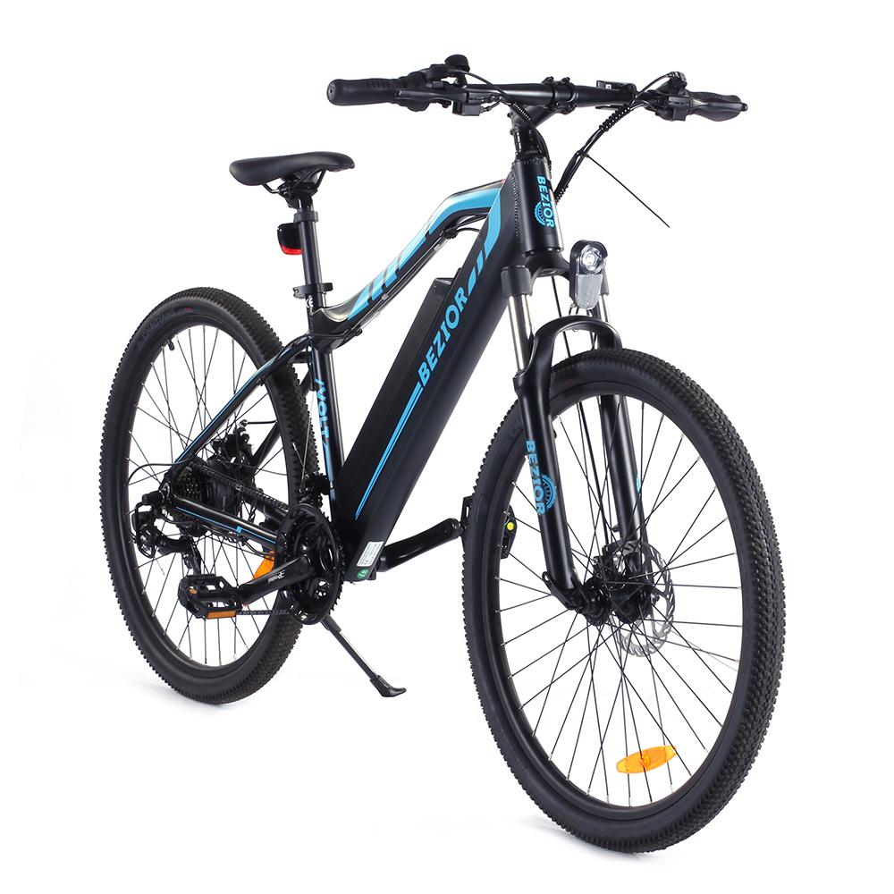 """BEZIOR M1 Electric 27,5 """"Electric Bike 12.5Ah 350W Motor Svart Blå"""