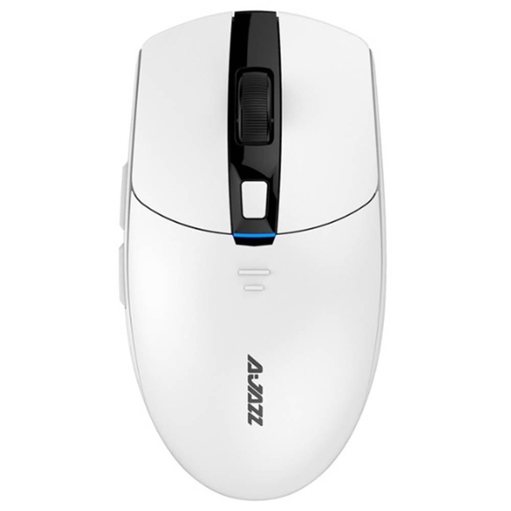 Ajazz i303 Pro ワイヤレス マウス ゲーム用 PixArt PMW3338 チップ ドライバー 6 色 LED ライト調整 16000DPI - ホワイト