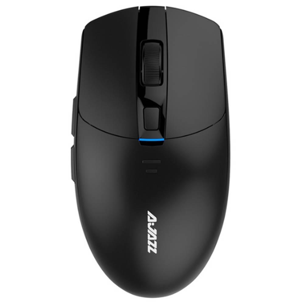 Ajazz i303 Pro Wireless Mouse Gaming PixArt PMW3338 Chiptreiber 6 Farben LED Lichteinstellung 16000DPI - Schwarz