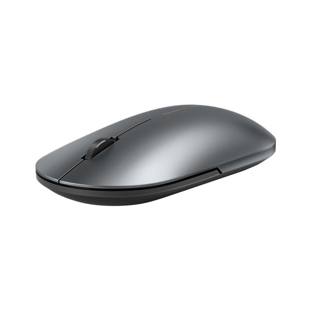 Оптическая мышь Xiaomi поддерживает Bluetooth / беспроводную связь с частотой 2.4 ГГц, 1000 точек на дюйм, металлический корпус Тонкий дизайн для офиса, игр - темно-серый
