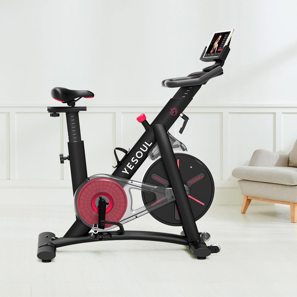 Yesoul S3 Napęd pasowy Spinning Bike Ćwiczenia na rowerze Fitness Bike Regulowana wysokość do treningu w pomieszczeniach Obsługa aplikacji Ios Android - czarny