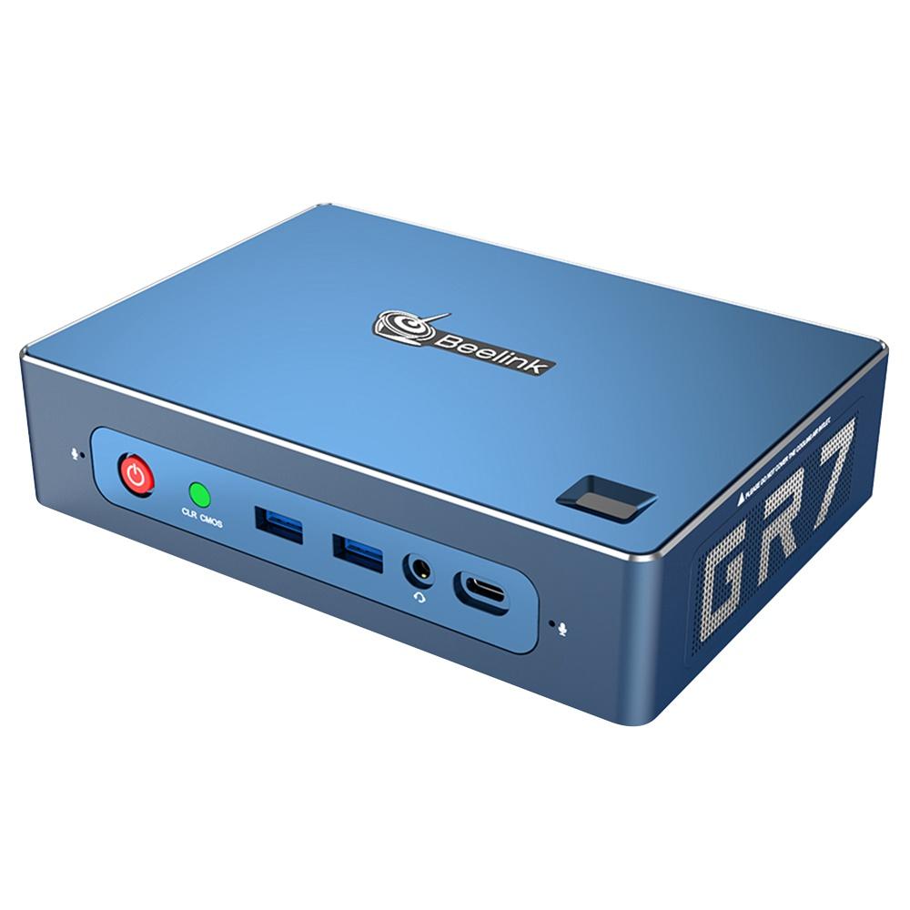 Beelink GT-R Barebone MINI PC Ryzen7 3750H Quad Core Radeon Vega 10 Grafik HDMI*2 DP RJ45*2 Typ-C