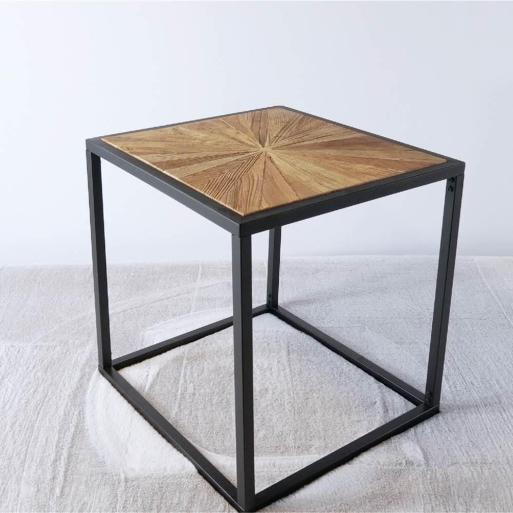 """24"""" Couchtisch aus Holz mit Metallrahmen für Küche, Restaurant, Büro, Wohnzimmer, Schlafzimmer - Braun"""