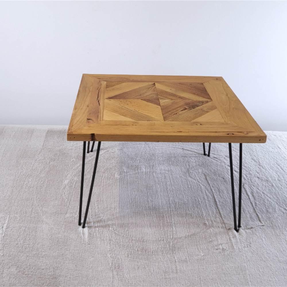 """28"""" Couchtisch aus Holz mit Metallrahmen für Küche, Restaurant, Büro, Wohnzimmer, Café - Braun"""