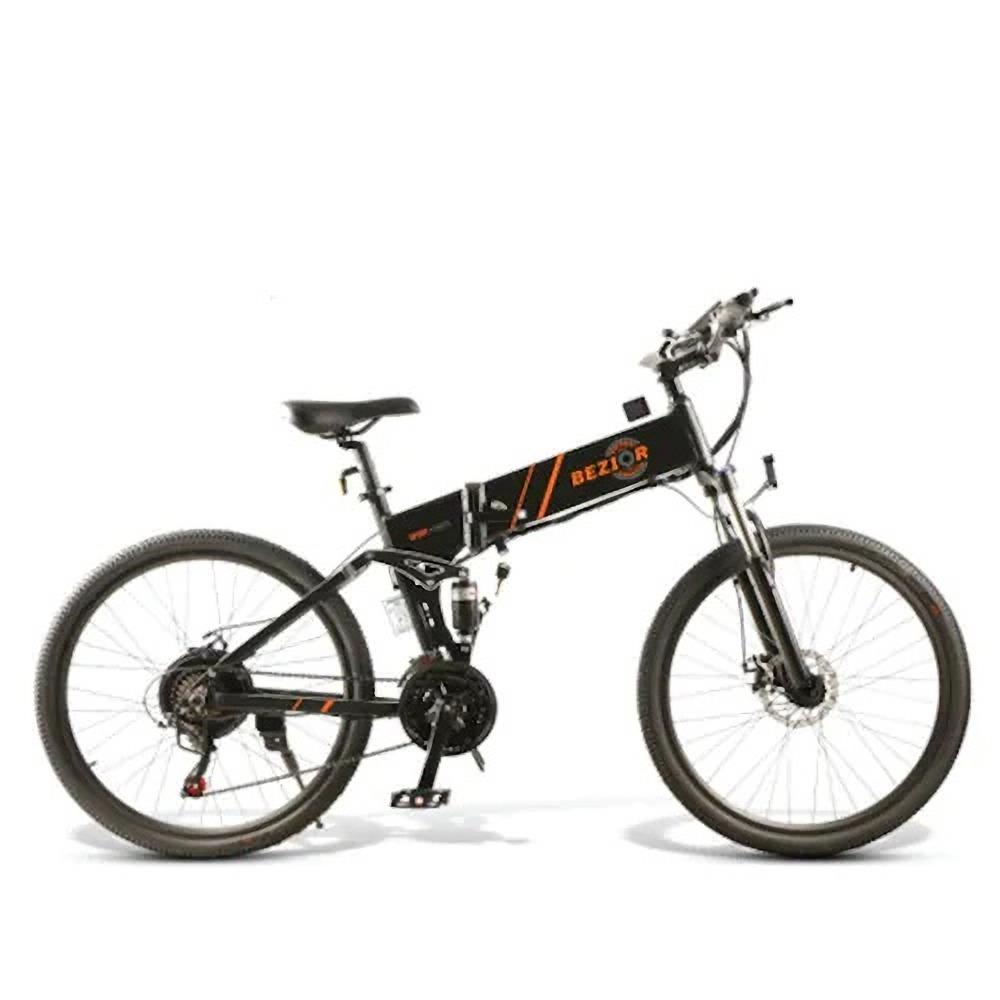 BEZIOR M26 Πτυσσόμενο Ηλεκτρικό Ποδήλατο 48V 10Ah Μπαταρία 500W Μηχανή χωρίς ψήκτρες 26 ιντσών Ελαστικό Πλαίσιο κράματος αλουμινίου Shimano 7-ταχυτήτων Shift Max Speed 30km / h LCD Meter Disk Brake - Black