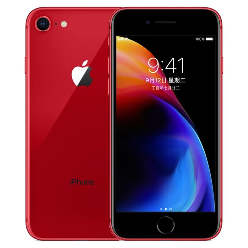 Apple iPhone 8 64GB feloldott piros 4.7 hüvelykes Retina kijelző, Touch ID eredeti képernyő - Használt (Tétel állapota - S osztály 99% új)