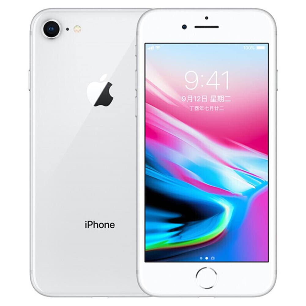 """Apple iPhone 8 64GB nyitott ezüst 4.7 """"Retina kijelző, Touch ID eredeti képernyő - Használt (Tétel állapota - S osztály 99% új)"""