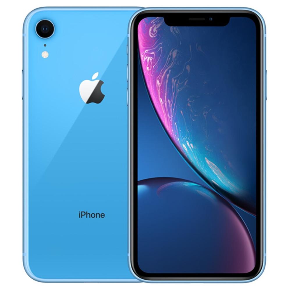 Apple iPhone XR 128 GB kék, 6.1 hüvelykes, kék LCD kijelző, eredeti arc -azonosító képernyő