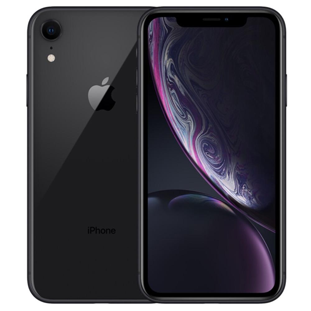 "Apple iPhone XR Ξεκλείδωτο 64GB Μαύρη οθόνη LCD 6.1 "", Αρχική οθόνη Face ID - Μεταχειρισμένο (Κατάσταση στοιχείου - Βαθμός S 99% Νέο)"