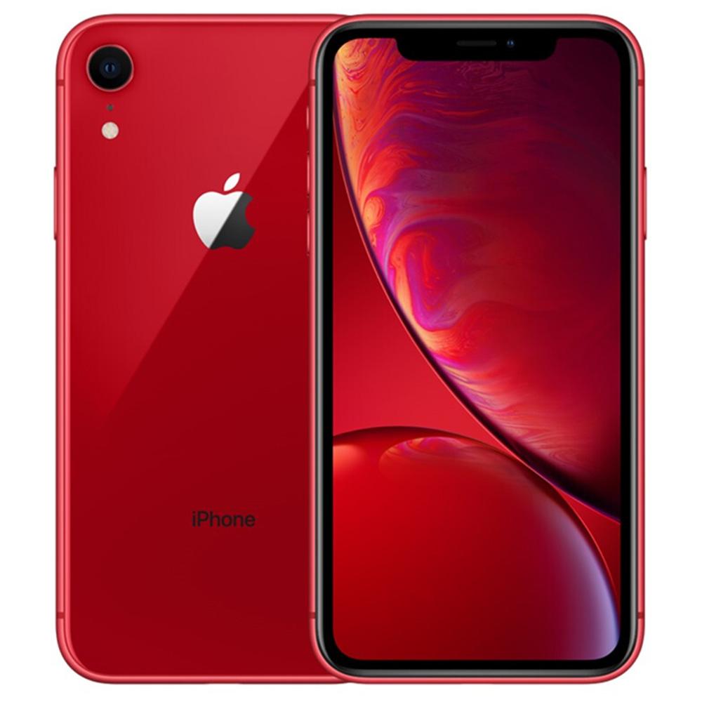 "Apple iPhone XR Unlocked 64GB Red 6.1"" LCD Display, Face ID Original Screen - Usagé (État de l'article - Grade S 99% Neuf)"