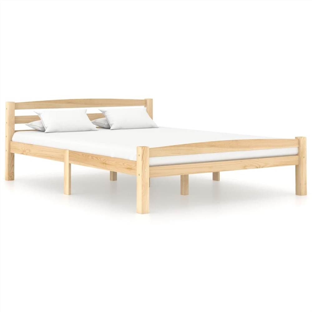 Bed Frame Solid Pinewood 140x200 cm