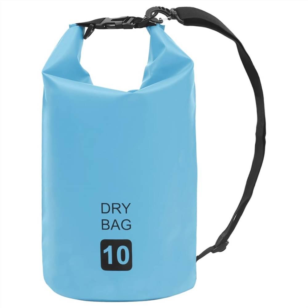 Сухой мешок синий 10 л ПВХ