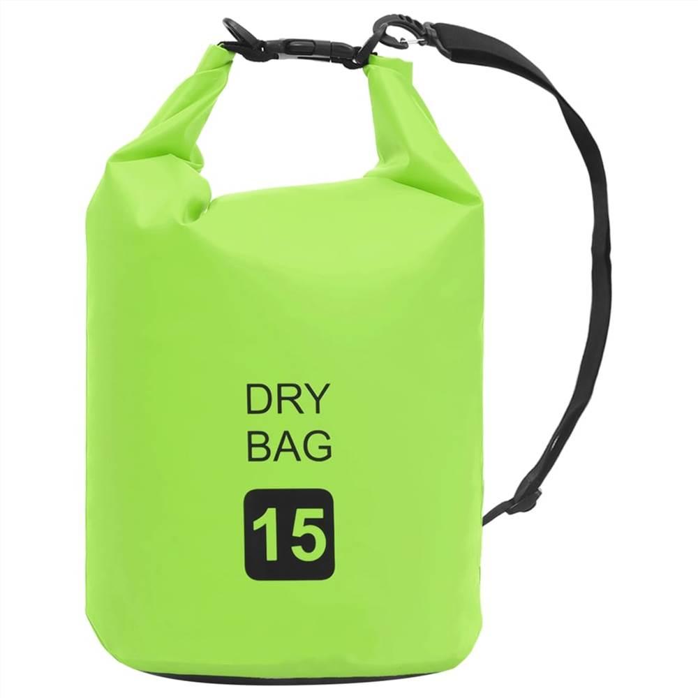 Сухой мешок зеленый 15 л ПВХ
