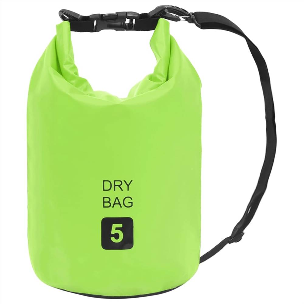 Сухой мешок зеленый 5 л ПВХ