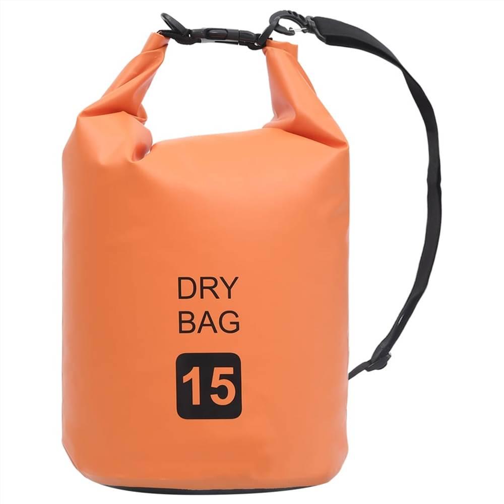 Сухой мешок оранжевый 15 л ПВХ