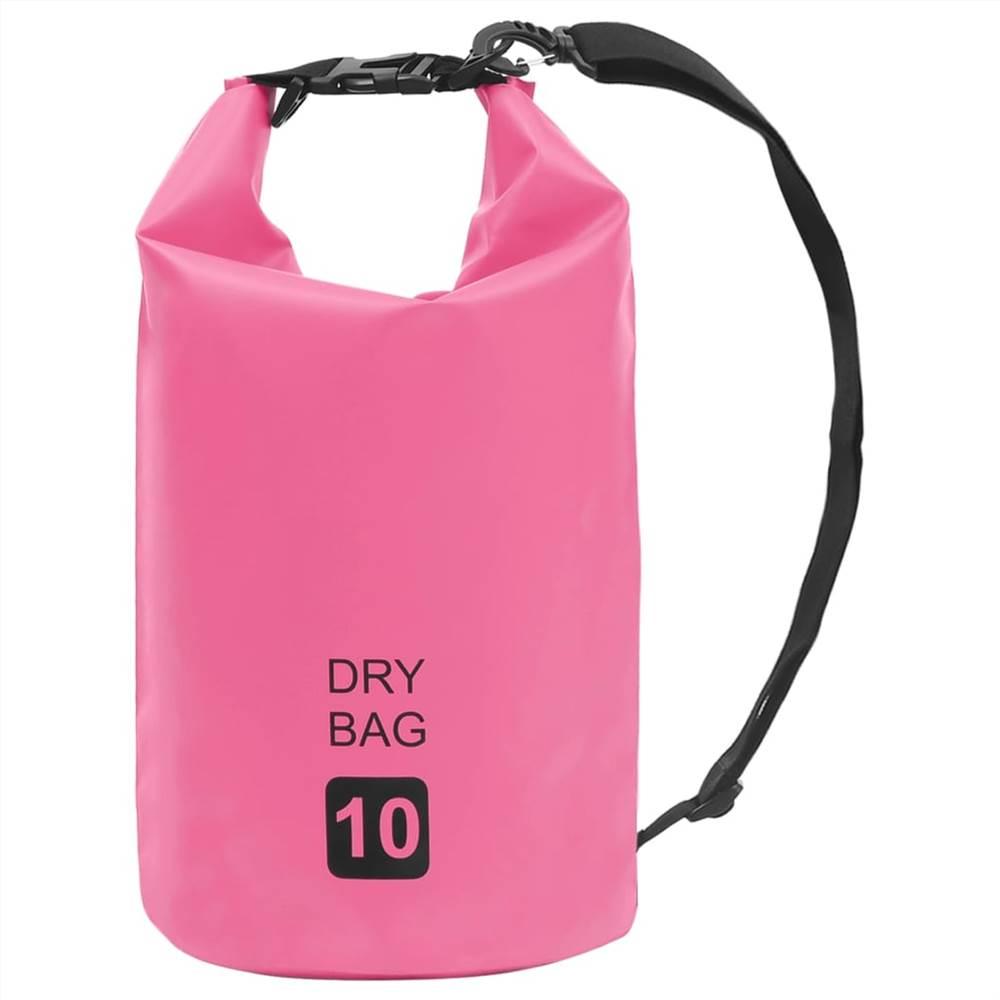 Сухой мешок розовый 10 л ПВХ