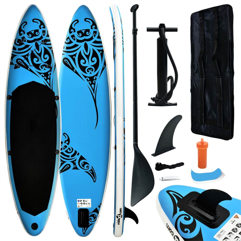 Надувная доска для серфинга Stand Up Paddleboard Set 320x76x15 cm Blue