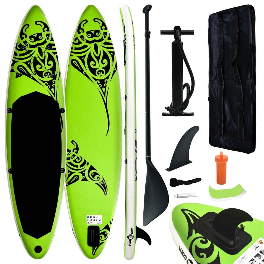 Надувная доска для серфинга Stand Up Paddleboard 366x76x15 cm Green