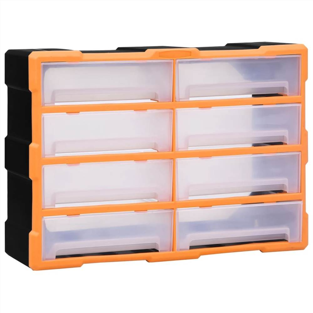 Multi-drawer Organiser with 8 Big Drawers 52x16x37 cm