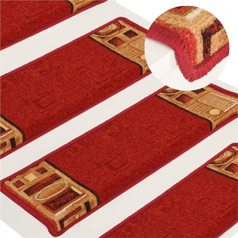 Αυτοκόλλητα πατάκια 15 τεμ. 65x25 cm Κόκκινο